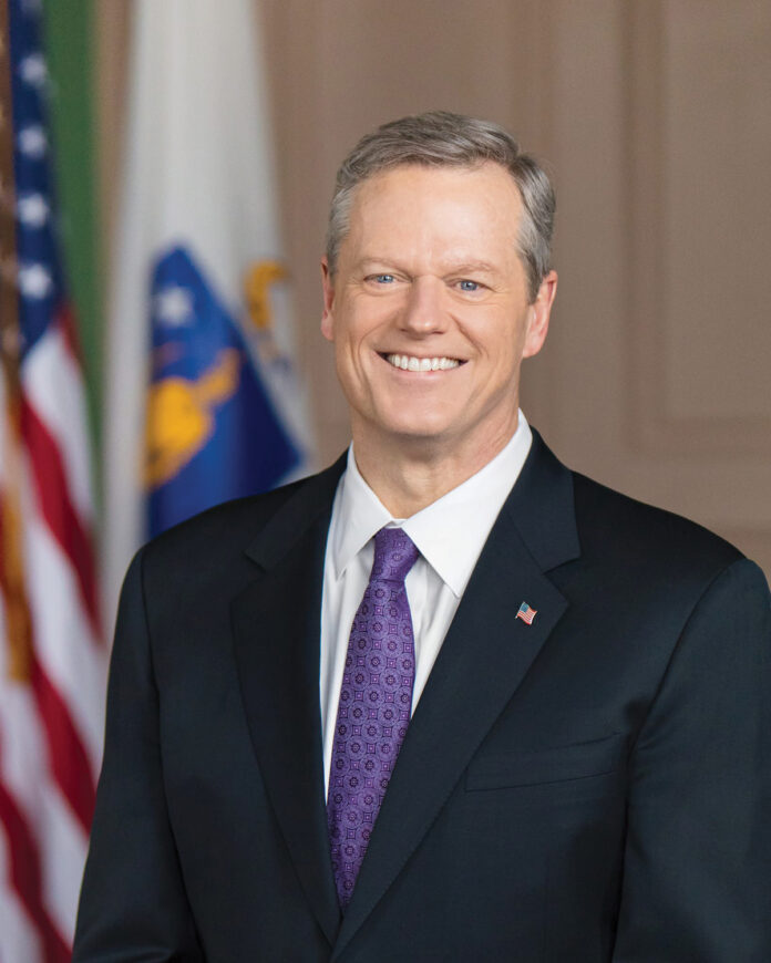 MASS. GOV. Charlie Baker delivered the State of the Commonwealth address Tuesday evening. / COURTESY OFFICE OF CHARLIE BAKER