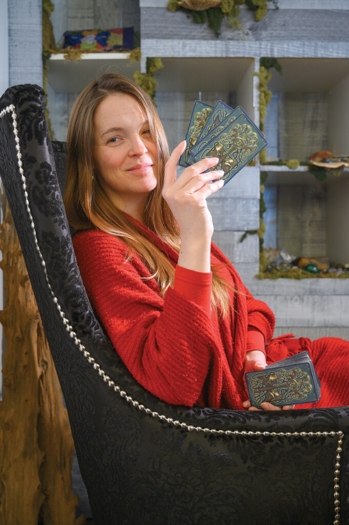 CARD-CARRYING MEDIUM: Jessica Lee gives group and individual readings at her Newport business, Jessica Lee Psychic Medium. PBN PHOTO/ DAVE HANSEN