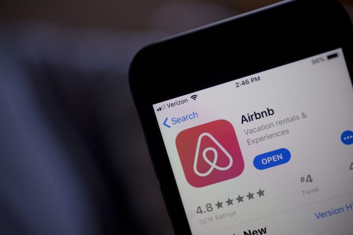 AIRBNB hosts in Rhode Island earned a combined $39.8 million in income from rentals in 2019. / BLOOMBERG NEWS FILE PHOTO/ANDREW HARRER