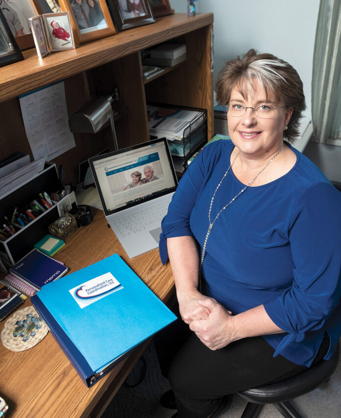 CAREFUL CONSIDERATION: Michelle Kissinger, owner of Personalized Care Coordination LLC, offers advocacy services and medication management for elderly folks living on their own, away from other family members. / PBN PHOTO/MICHAEL SALERNO