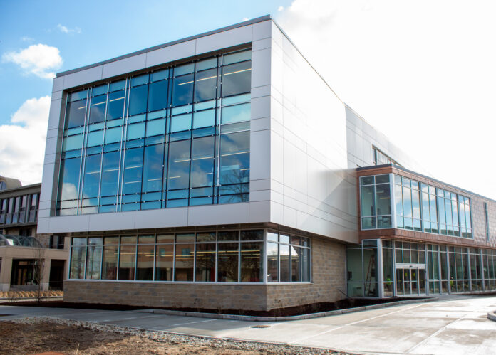 ROGER WILLIAMS UNIVERSITY'S new $13.8 million School of Engineering, Computing and Construction Management building is set to open Wednesday when students return to campus. / COURTESY ROGER WILLIAMS UNIVERSITY