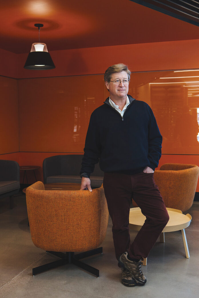 Thorne Sparkman joined Slater in 2000 as executive director of what was then known as the Slater Center for Interactive Technologies. He focuses on the earliest stage of company creation, including working with university-based teams commercializing research. / PBN PHOTO/RUPERT WHITELEY