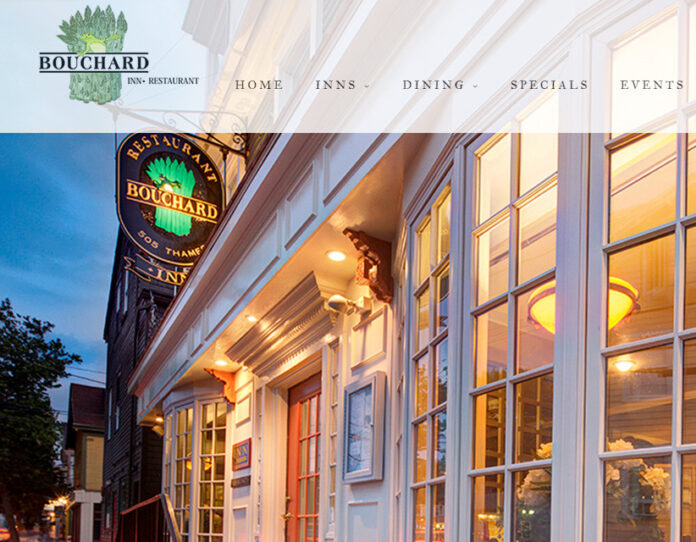 THE BOUCHARD RESTAURANT AND INN in Newport was the only restaurant in Rhode Island to make OpenTable's