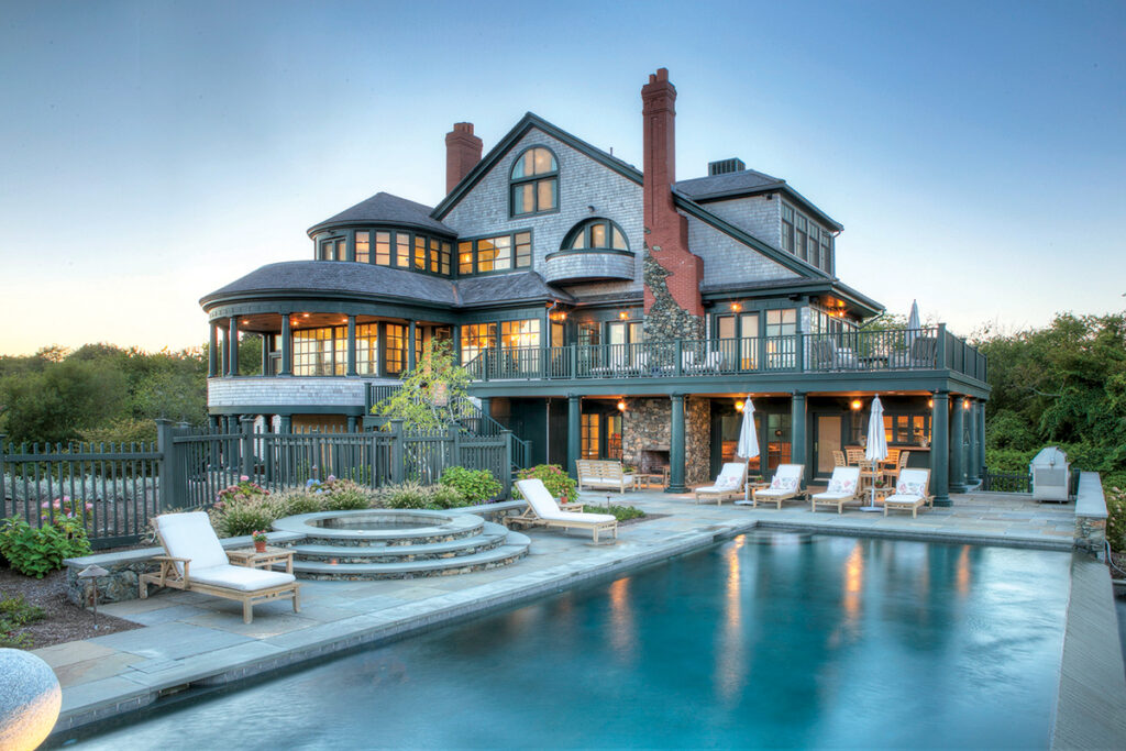 4 146 Brenton Road | Newport PRICE: $7,300,000DATE: Jan. 22, 2019BUYER: Pumo LLCSELLER: Anthony W. RuggieroBROKER: Gustave White Sotheby's International Realty (buyer); William Raveis Chapman Enstone (seller) YEAR BUILT: 1987BATHROOMS: 6 full, 3 halfBEDROOMS: 5LIVING SPACE: 6,357 square feetPREVIOUS PRICE: Originally listed for $7,950,000 in September 2018. / Courtesy Gustave White SOTHEBY'S INTERNATIONAL REALTY