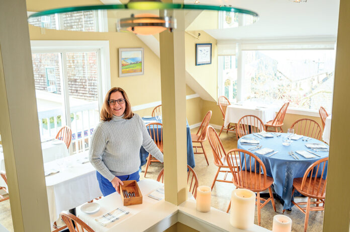 CIRCUITOUS ROUTE: Geremie Callaghan worked in the music and cosmetics industries while living in New York City before returning to Rhode Island to open seafood restaurant Fluke in Newport with her husband, Jeff. / PBN PHOTO/DAVE HANSEN