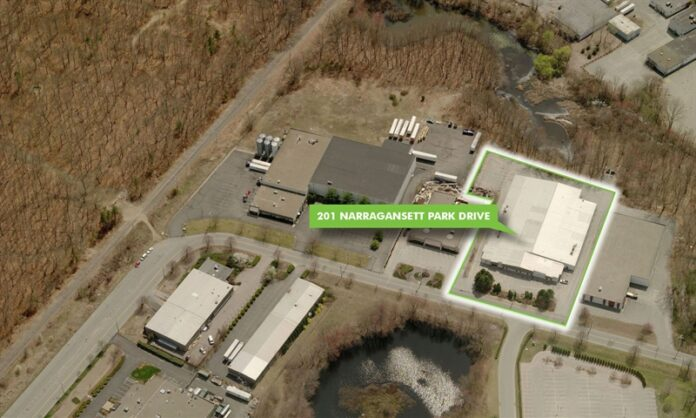 THE COMMERCIAL property at 201 Narragansett Park Drive in East Providence has sold for $1.9 million. / COURTESY CBRE GROUP INC.