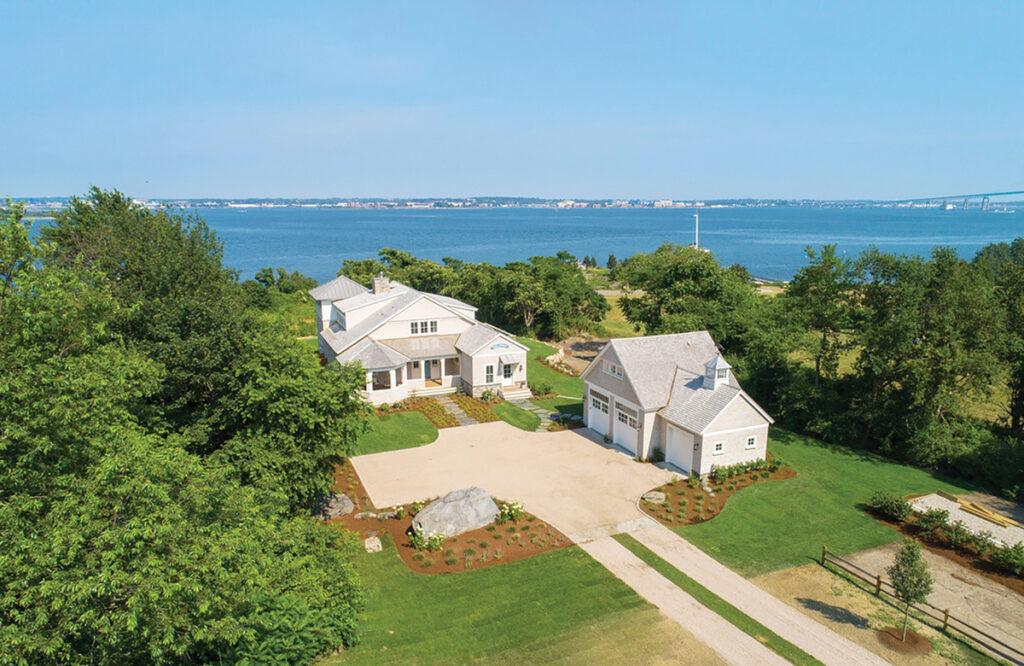 8 238 East Shore Road | Jamestown PRICE: $5,000,000DATE SOLD: May 31, 2019BUYER: Seaspray LLCSELLER: Jamestown Cottages Co. LLCBROKER: Lila Delman Real Estate (buyer and seller)YEAR BUILT: 2018BATHROOMS: 3 full, 1 halfBEDROOMS: 4LIVING SPACE: 3,540 square feetPREVIOUS PRICE: Originally listed for $5,750,000 in July 2018. / Courtesy Lila Delman Real Estate