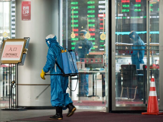 SOME RHODE ISLAND companies have put a ban on business travel to and from China as a result of the coronavirus outbreak. / BLOOMBERG NEWS FILE PHOTO/YIFAN DING