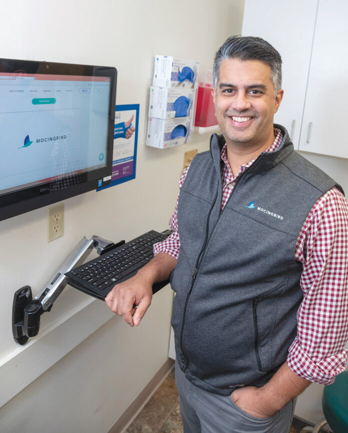 KEEPING TRACK: Dr. Ian Madom has co-founded a company named MY MOC Inc. that administers an online platform called MOCingbird to help doctors keep track of their license and education requirements. / PBN PHOTO/MICHAEL SALERNO