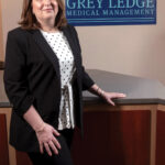 After co-owning her medical billing and practice management consulting firm Comprehensive Practice Management Services Inc. for over 15 years, Sylvestre assumed sole ownership in 2018. Under her leadership, the company rebranded as Grey Ledge Medical Management and is now positioned for regional growth. / PBN PHOTO/MICHAEL SALERNO