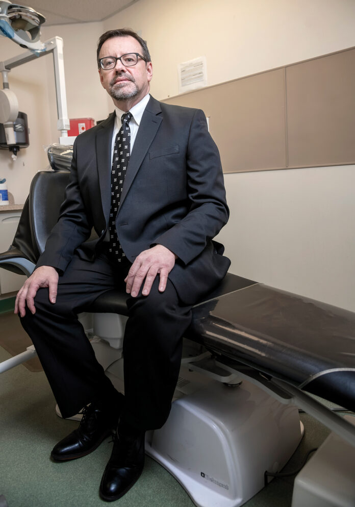 Peter Bancroft was named CEO and president of WellOne Primary Medical and Dental Care in 2003, after serving as chief financial officer for 11 years. The nonprofit provides primary medical care, dental, behavioral health services, substance-use disorder treatment and offers access to discounted medications. / PBN PHOTO/MICHAEL SALERNO