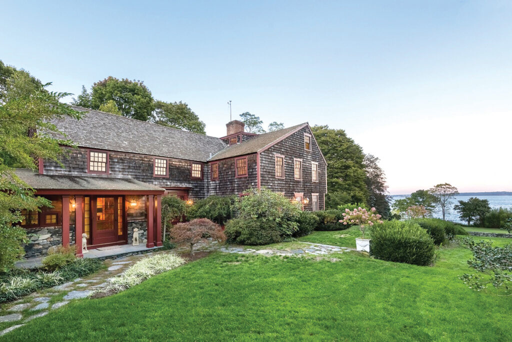 5 850 East Shore Road | Jamestown PRICE: $6,325,000DATE SOLD: April 22, 2019BUYERS: Barbara R. Kirk, Karl D. Kirk Jr. and Katherine R. KirkSELLERS: Mary G. Long and Ronald E. Long BROKER: Mott & Chace Sotheby's International Realty (buyer and seller)YEAR BUILT: 1680BATHROOMS: 2 full, 1 halfBEDROOMS: 5LIVING SPACE: 4,188 square feetPREVIOUS PRICE: Originally listed for $6,850,000 in June 2018. / Courtesy Mott & Chace SOTHEBY'S INTERNATIONAL REALTY