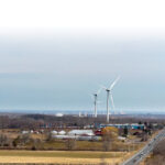 LARGEST WIND FARM: Green Development owns the turbines that make up Rhode Island's largest wind farm, the $100 million, seven-turbine project in Johnston, which generates 21 megawatts. / PBN PHOTO/PAMELA BHATIA