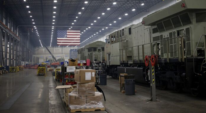 THE INSTITUTE for Supply Management manufacturing index slid to 50.1 in February. A value above 50 indicates expansion and a value below 50 indicates contraction. / BLOOMBERG NEWS FILE PHOTO/LUKE SHARRETT