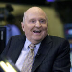 FORMER CHAIRMAN AND CEO of General Electric Jack Welch has died at the age of 84. / AP FILE PHOTO/RICHAR DREW
