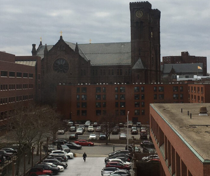 THE ROMAN CATHOLIC Diocese of Providence said Thursday that parishioners are not obligated to attend church on Sundays through March 29. / PBN PHOTO/JAMES BESSETTE