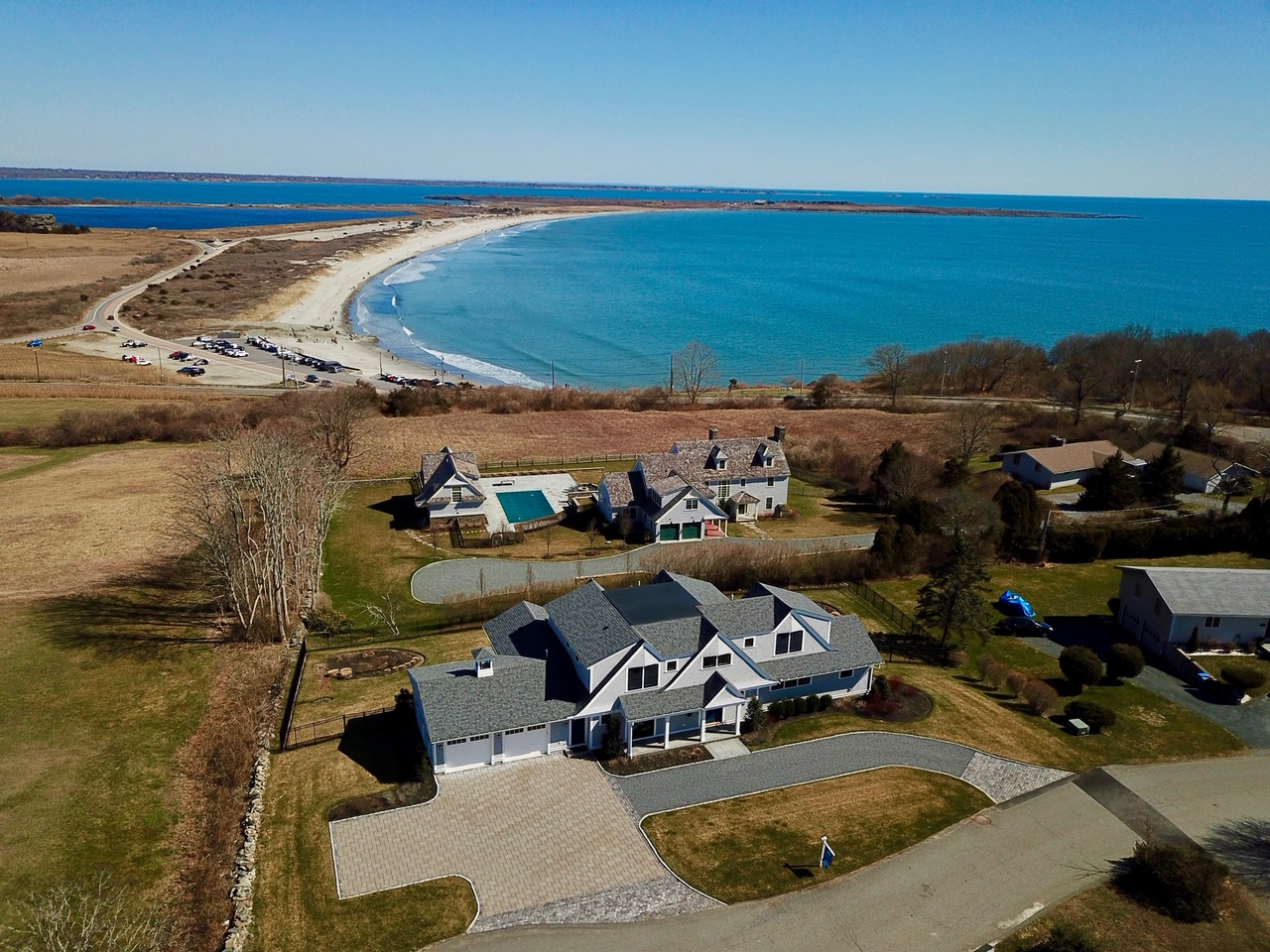 THE PROPERTY, spanning half an acre, features water views. / COURTESY HOGAN ASSOCIATES
