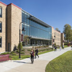 IMPROVED ENVIRONMENT: The newly renovated Gaige Hall building on the Rhode Island College campus lets in more natural light and has improved acoustics.