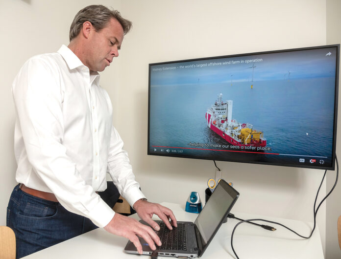 POWER PLAYER: Matthew Morrissey, head of Northeast markets for Orsted U.S. Offshore Wind Power, says Rhode Island businesses could play a big part in offshore wind power in the coming years. / PBN PHOTO/MICHAEL SALERNO