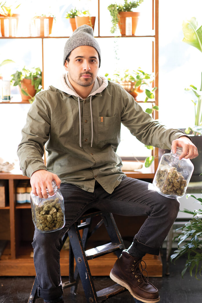 DO-IT-YOURSELFER: Nishan Han wants to grow industrial hemp in Rhode Island to provide products for his CBD shop in Newport. / COURTESY MIA CAMPOPIANO PHOTOGRAPHY
