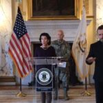 GOV. GINA M. RAIMONDO has activated the full National Guard in the state and has pushed back the state tax-filing deadline to July 15. / COURTESY OFFICE OF THE GOVERNOR