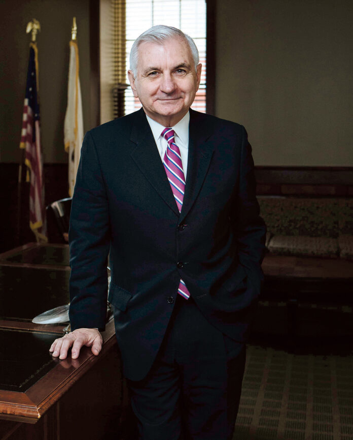 SEN. JACK REED said Monday that Rhode Island will receive $115 million in federal funds to support educational institutions, including teachers and students, as part of the federal coronavirus stimulus package passed last week. / PBN FILE PHOTO/RUPERT WHITELEY