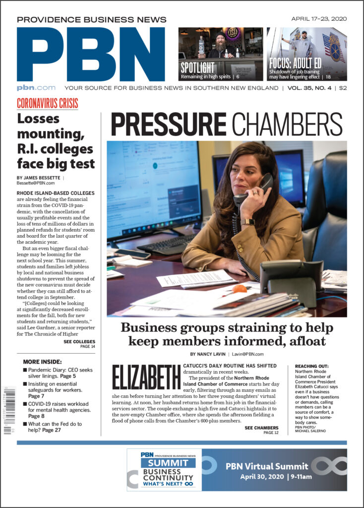 """CRUCIAL RESOURCE: Local news outlets such as Providence Business News are among the """"essential workers"""" businesses and communities rely on, especially in times of crisis."""