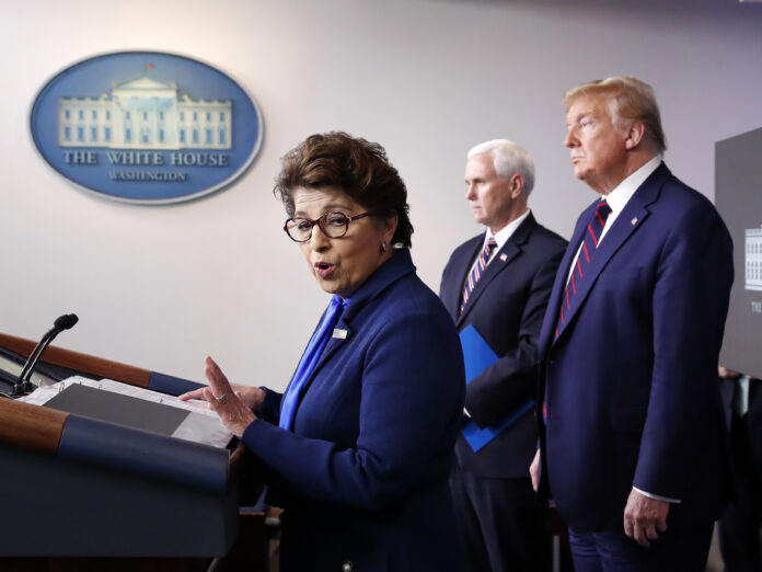THE SBA's Paycheck Protection Program launched Friday, but some are having trouble gaining access to loans right away. Funds for the program are expected to be depleted quickly. Above, Jovita Carranza, administrator of the Small Business Administration. / AP FILE PHOTO/ALEX BRANDON
