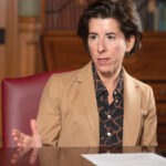 MOST RHODE ISLAND voters approve Gov. Gina M. Raimondo's job performance during the COVID-19 pandemic, according to a survey released Thursday by the Hassenfeld Institute for Public Leadership at Bryant University. / PBN FILE PHOTO/MICHAEL SALERNO