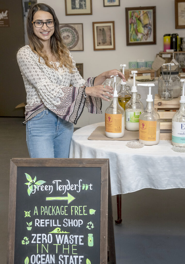 PLASTIC-FREE: Ana Duque is the owner of Green Tenderfoot, a cleaning and beauty product refill station that promotes a low-waste lifestyle. / PBN PHOTO/MICHAEL SALERNO