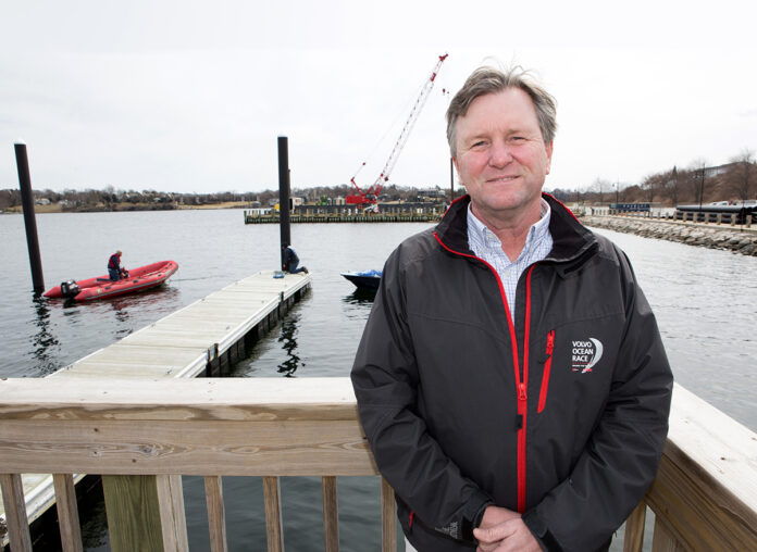 Brad Read started his career in sailing as a sailmaker on Aquidneck Island. Twenty-two years ago, at the age of 33, he was brought on to be executive director of Sail Newport, home to New England's largest public sailing center. / PBN FILE PHOTO/KATE WHITNEY LUCEY