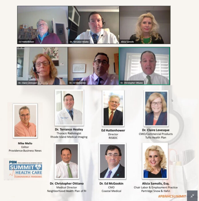 VIRTUAL PANEL: Providence Business News' Health Care Summit took place online on April 1, with panelists meeting through web conferencing.