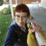 IMPULSE BUY: Melissa Jean Footlick, 42, of San Diego, is among the millions of shoppers behind the surge in online retail sales, sometimes making spur-of-the-moment purchases. For no reason, Footlick purchased a game in which players throw rubber chickens at targets. / MELISSA JEAN FOOTLICK VIA AP