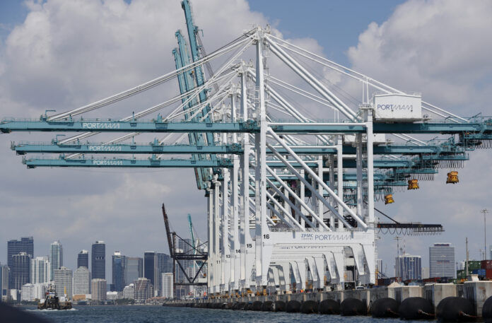 THE U.S. TRADE GAP widened 11.6% in March to $44.4 billion. / AP FILE PHOTO/WILFREDO LEE