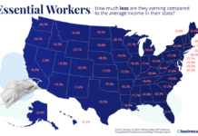 RHODE ISLAND had the fourth highest gap between average earnings for essential workers and the average state yearly wage in the U.S., according to a recent study. / COURTESY BUSINESS.ORG