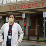 UNEXPECTED SIDE EFFECT: Dr. Laura Forman, chief of emergency medicine at Kent County Memorial Hospital, says visits to the hospital's emergency room have dropped by nearly half since the first cases of COVID-19 appeared in Rhode Island. / PBN PHOTO/ELIZABETH GRAHAM