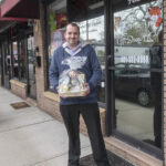 ONLINE OFFERINGS: TigerEye Gift Shop owner Ron Amore Jr. has closed his Warwick shop but is selling holiday gift baskets through his website and pickup system. / PBN PHOTO/MICHAEL SALERNO