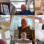 IN A BUNCH: Cooley Group's sales and customer service team gather virtually to collaborate on a new market opportunity. / COURTESY COOLEY GROUP