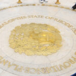 TIME TO LET GO: Visitors to the Statehouse can see the seal of the State of Rhode Island and Providence ­Plantations. / PBN FILE PHOTO/FRANK MULLIN