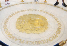 TIME TO LET GO: Visitors to the Statehouse can see the seal of the State of Rhode Island and Providence Plantations. / PBN FILE PHOTO/FRANK MULLIN