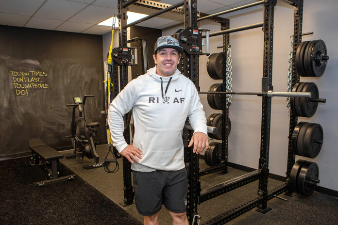 TACTILE TRAINER: Kevin Davis spent 15 years working as a personal trainer in various gyms before setting out on his own and launching Anchor Fitness LLC in Middletown in September. / PBN PHOTO/KATE WHITNEY LUCEY