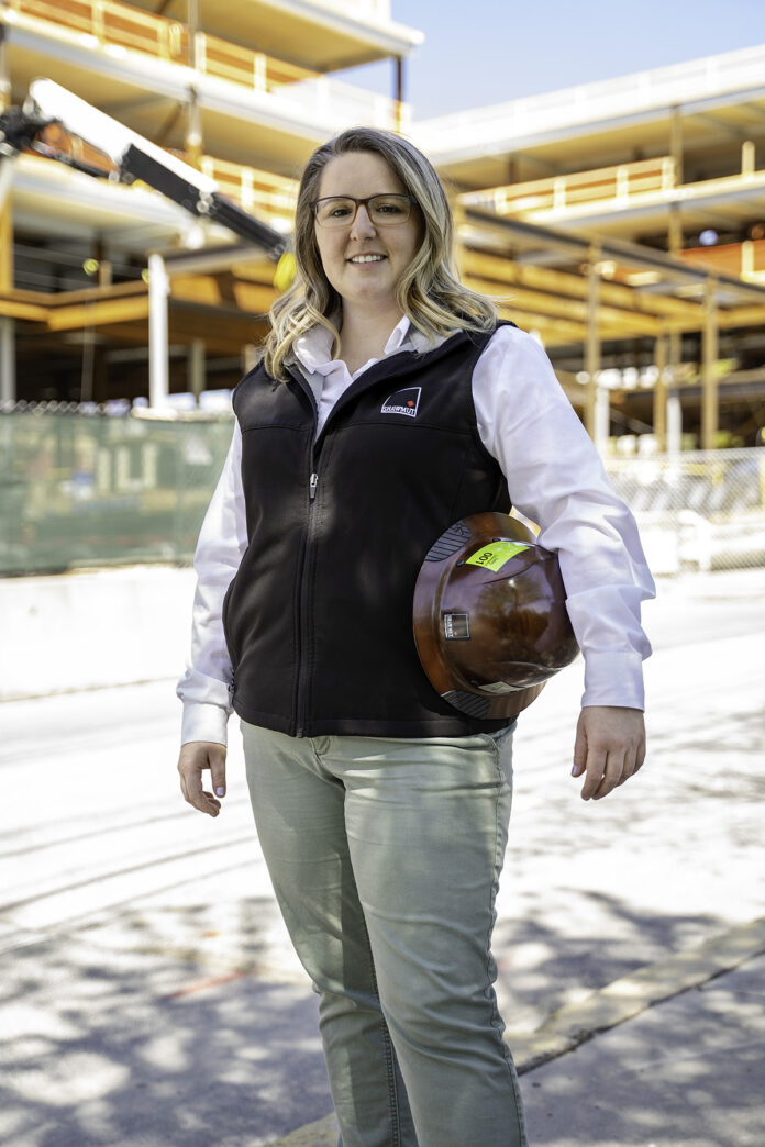 BUILDING BLOCK: Shawmut Design and Construction Senior Superintendent Jessica Spivey is part of the company's Diversity Leadership Council, in which she trains both senior leadership and employees on diversity and inclusion topics. / COURTESY SHAWMUT DESIGN AND CONSTRUCTION