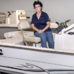 MAKING WAVES: Debbie A. Wood, president and co-owner of Wood Boat & Motor Inc. in Warwick, decided with her husband, Russell, to take over running the Rhode Island Boat Show, after the previous organizers stepped down after three decades at the helm. / PBN FILE PHOTO/MICHAEL SALERNO