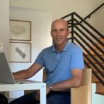 PETER CRUMP, a partner of Site Specific LLC, working from home during the pandemic. / COURTESY PETER CRUMP