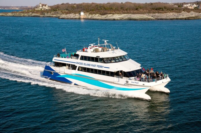 RHODE ISLAND FAST FERRY's service from Quonset Point to Martha's Vineyard has been cancelled until next year. / COURTESY RHODE ISLAND FAST FERRY