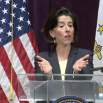 MOST RESPONDENTS to a survey conducted by the University of Rhode Island's Social Science Institute for Research, Education and Policy that they approve Gov. Gina M. Raimondo's handling of the COVID-19 pandemic. / COURTESY CAPITOL TV