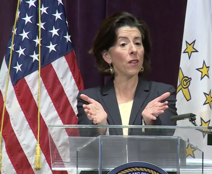 GOV. GINA M. RAIMONDO addressed the protests around the nation following the death of George Floyd in Minneapoliswhile in police custody. / COURTESY CAPITAL TV.