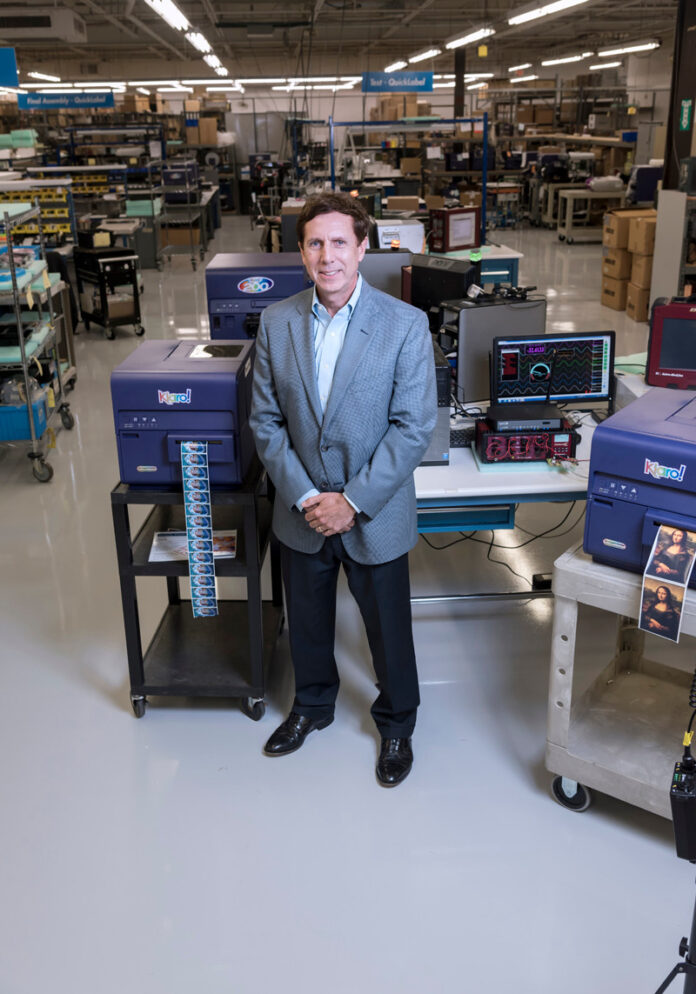 ASTRONOVA reported a fiscal first-quarter profit of $432,000, a decline of 74.6% year over year, citing impacts of the COVID-19 pandemic. Above, Astronova president and CEO Gregory A. Woods. / PBN FILE PHOTO/ MICHAEL SALERNO