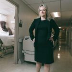 COMBATING COVID-19: Shannon Sullivan, interim chief operating officer at Women & Infants Hospital, was at the forefront of helping set up a field hospital at the former Citizens Bank building in Cranston to handle a possible influx of COVID-19 patients. / PBN PHOTO/RUPERT WHITELEY