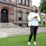 DISTANCE LEARNING: As a precaution against COVID-19, international student Grace Deng, who will be a senior this year at Brown University, plans to take her courses online while living in Providence when classes resume in the fall. / PBN PHOTO/ELIZABETH GRAHAM